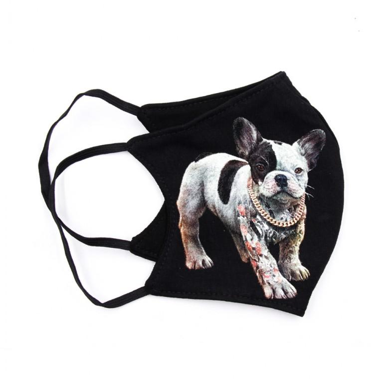 Maschera stampa con cane