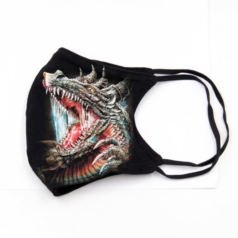 Maschera stampa con Drago