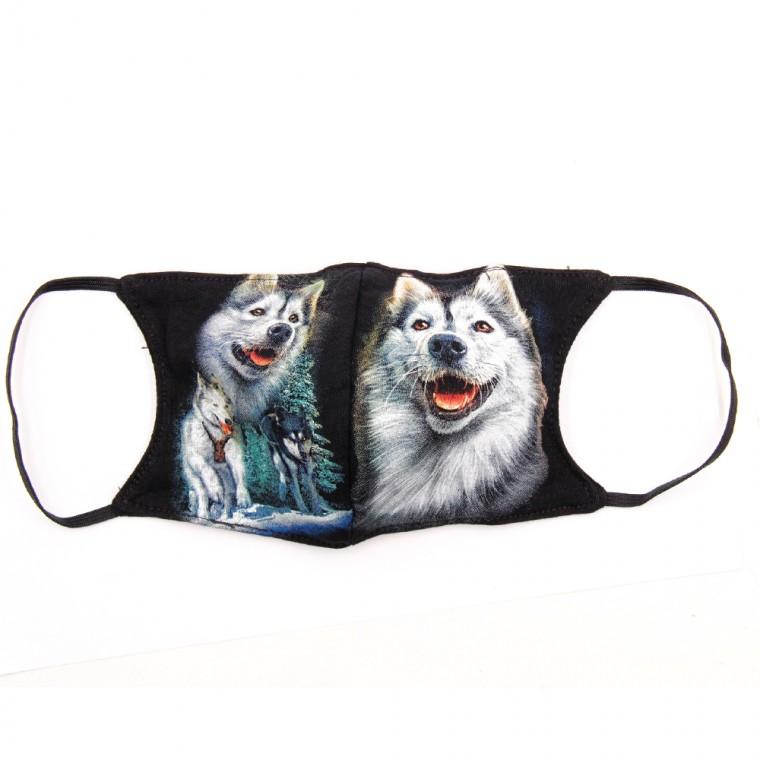 Maschera stampa con lupo