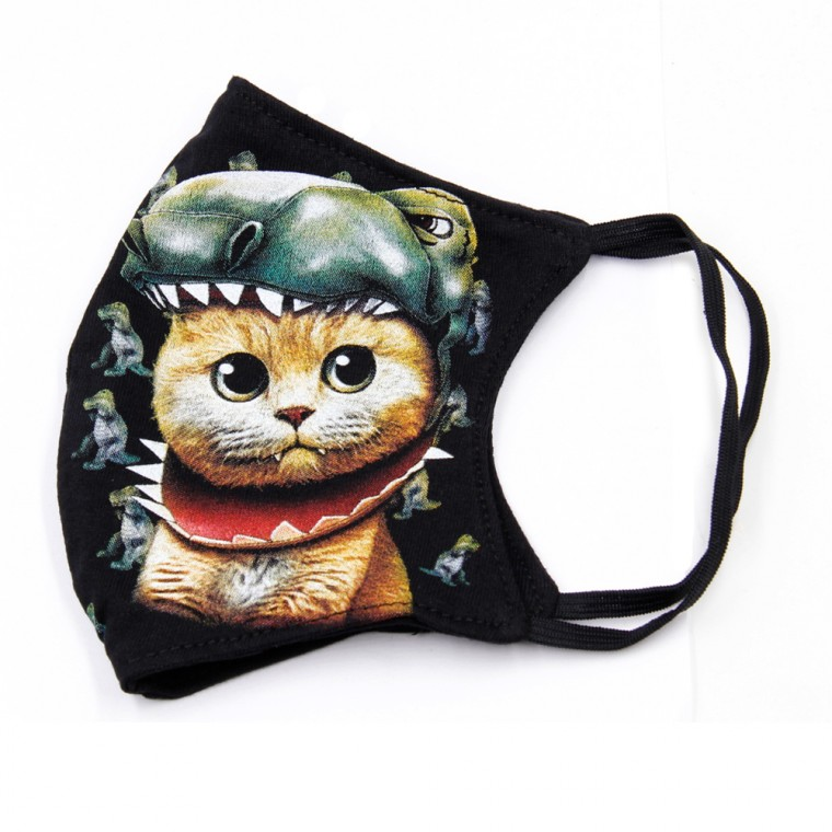 Maschera stampa con gatto