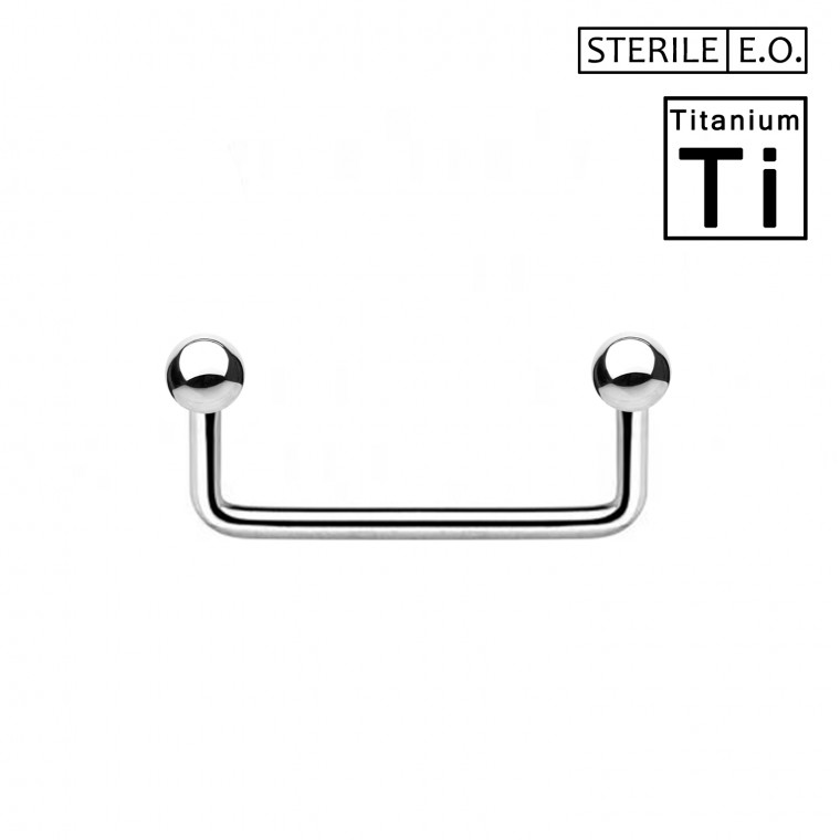 PTS-01(BOX 10PZ) Surface Barbell Sterile in Titanio Φ1.2mm