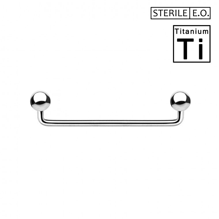 PTS-02(BOX 10PZ) Surface Barbell Sterile in Titanio Φ1.6mm