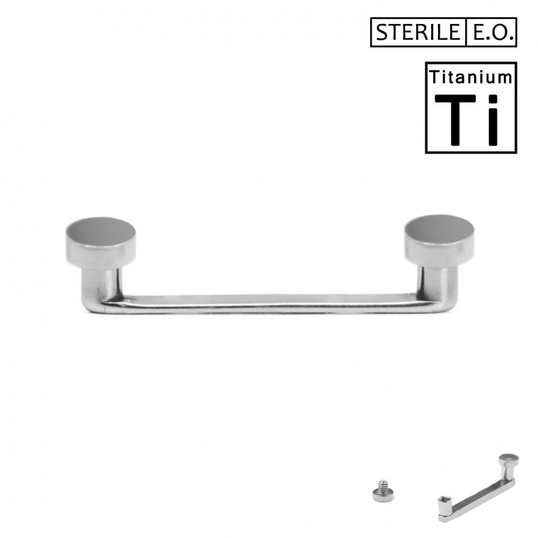 PTS-04-1 Surface Barbell Sterile in Titanio Φ1.6mm