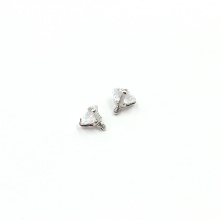 Micro Pietra Brillante per Dermal Anchor e Labret