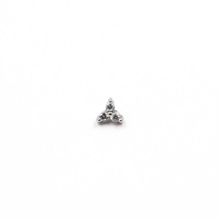 Micro Triangolo con Cristalli  per Dermal Anchor