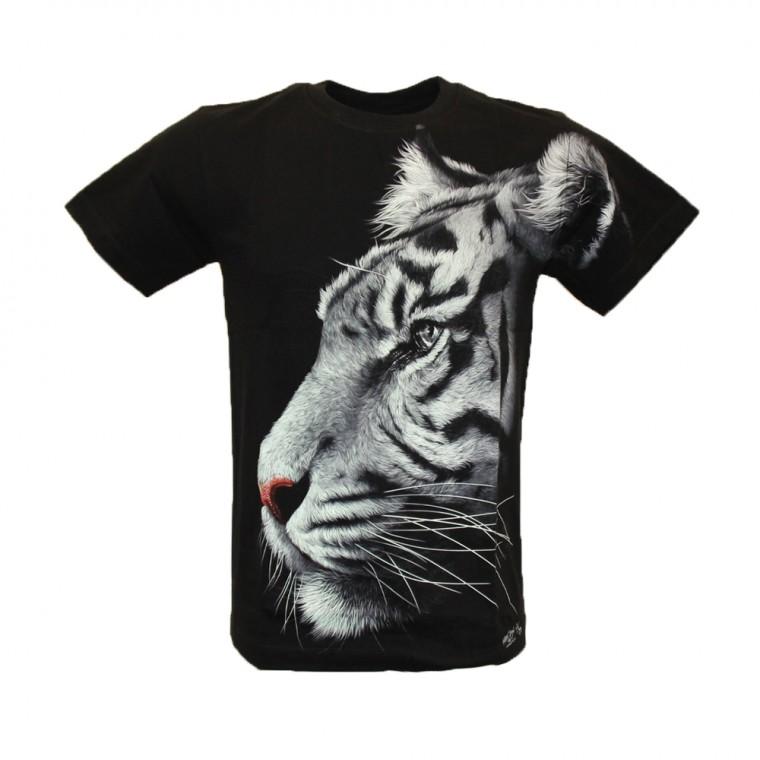 Maglietta Tigre Bianco Effetto 3D e Nottilucento