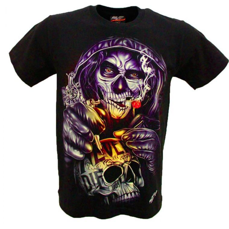 Maglia /T-shirt Tatuatore Teschio Cranio GR-810