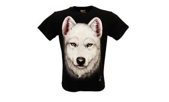 T/shirt Maglietta Lupo bianco HD-122