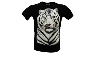 T-shirt/Maglietta Bambino Tigre Bianco GK-218