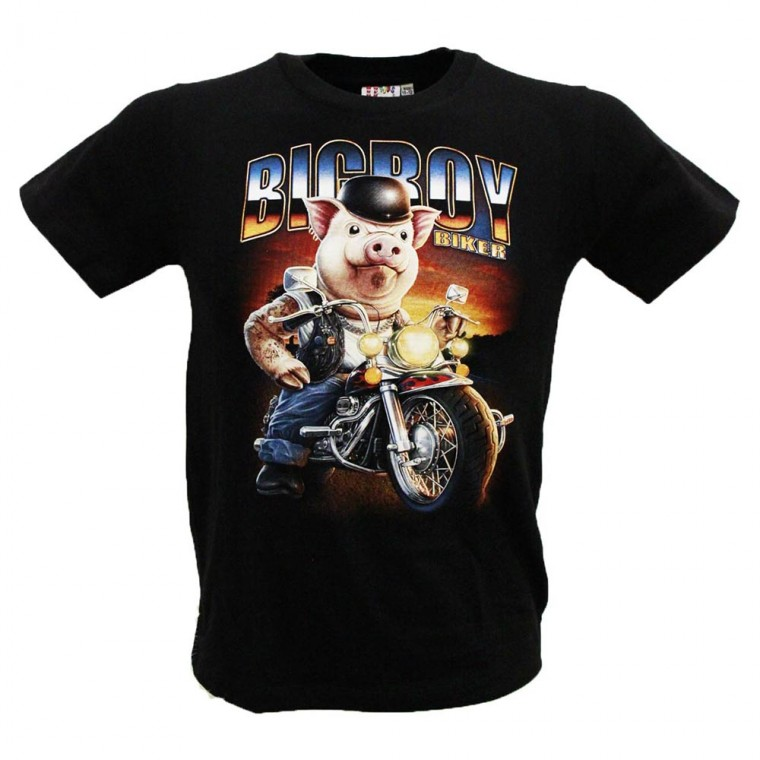 T-shirt/Maglietta Bambino Maiale Motociclista KGW-253