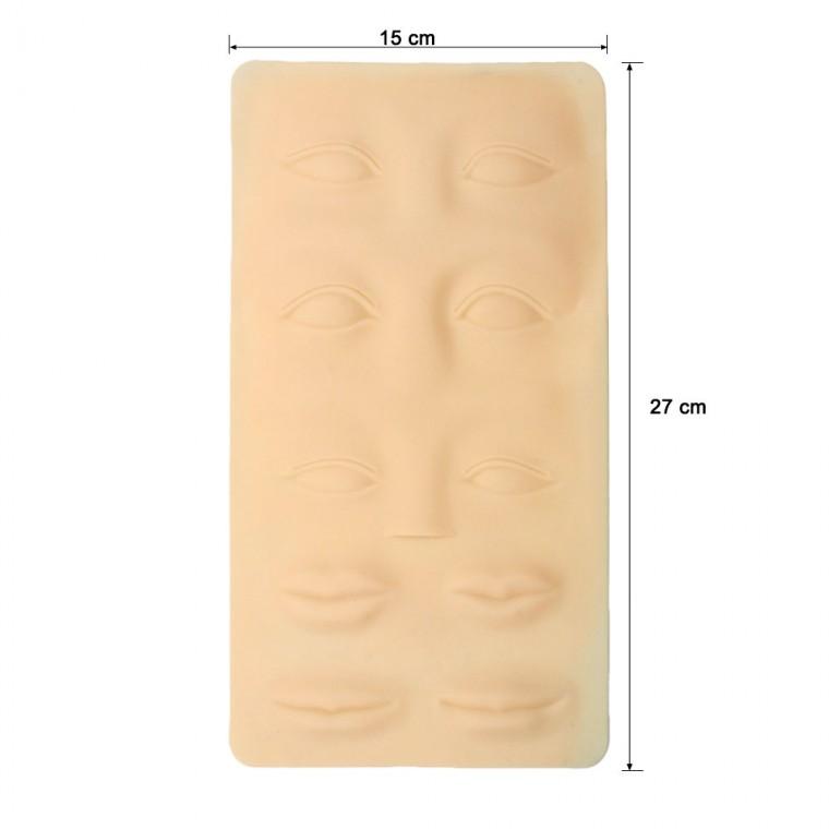 Pelle 3D Occhi e Labbra Silicone