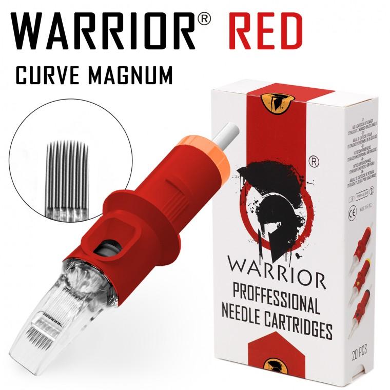 WARRIOR Red Cartucce Per Tatuaggio (Ø 0.35mm Curve Magnum)