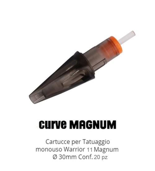 WARRIOR Nuova Cartucce Per Tatuaggio (Ø 0.30mm Curve Magnum)