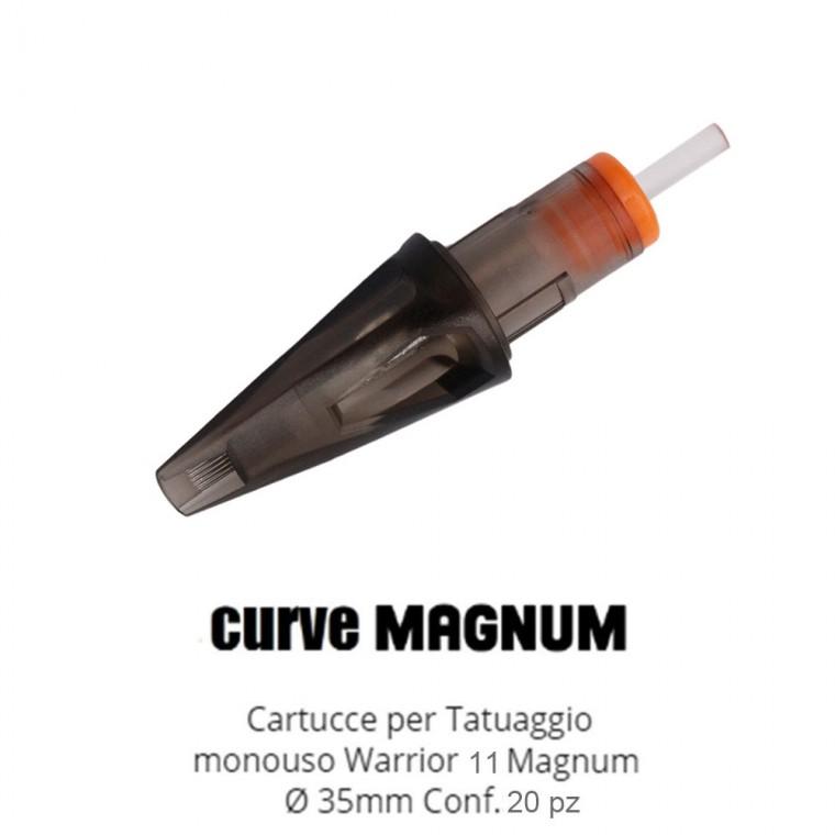 WARRIOR Nuova Cartucce Per Tatuaggio (Ø 0.35mm Curve Magnum)