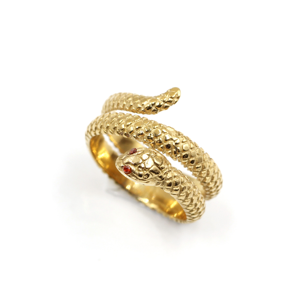 Anello Serpente oro Vintage