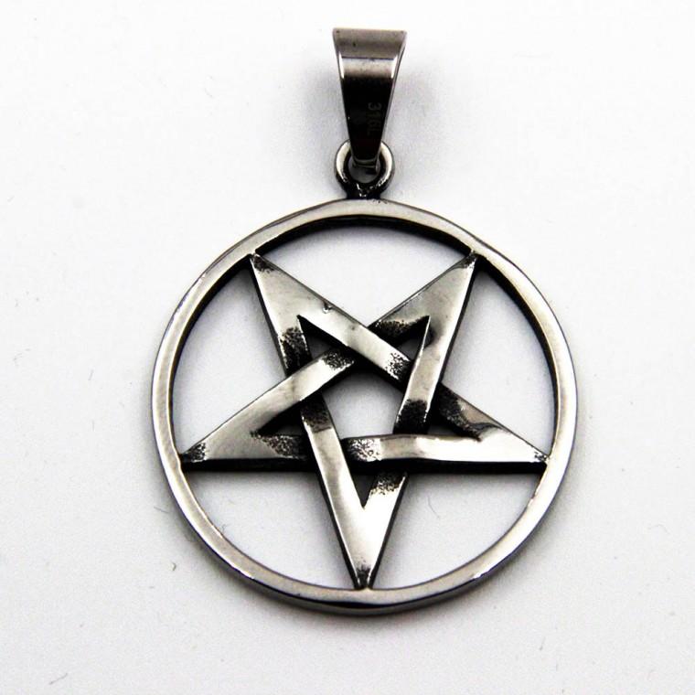 Ciondolo con cerchio a 5 punte e Stella Pentagramma