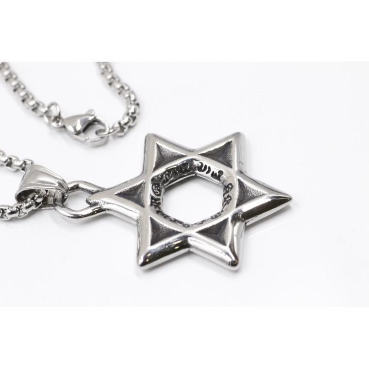Collana con Pendente Ebraica Stella Di David
